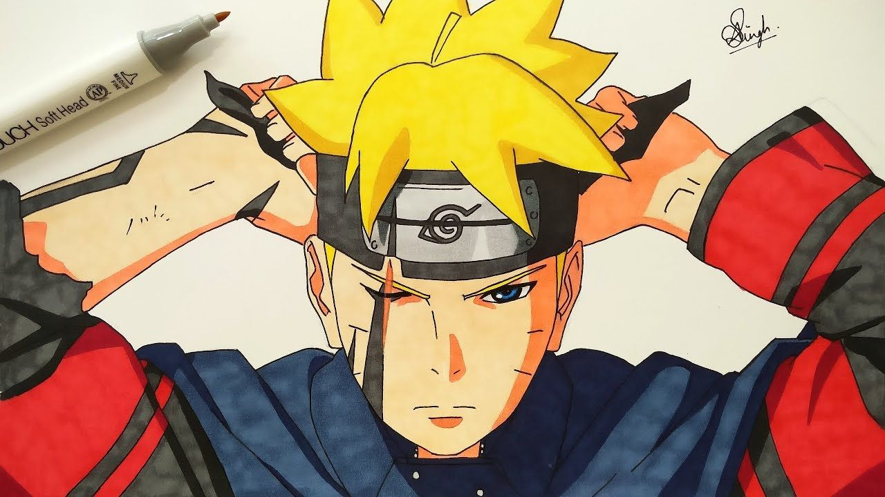 Drawing Boruto (Requested) YouTube Boruto, Drawings, Anime