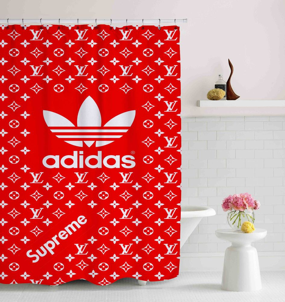 cf325c7488 Adidas Supreme Logo Custom Shower Curtain 60