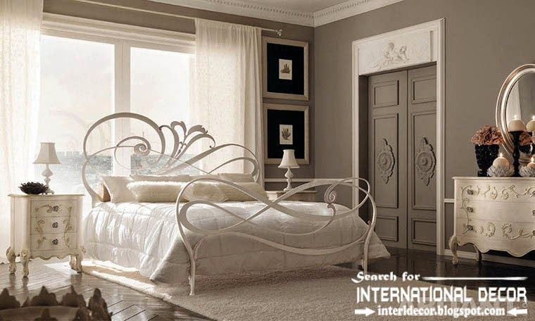 modern Italian wrought iron beds and headboards 2015, white wrought ...