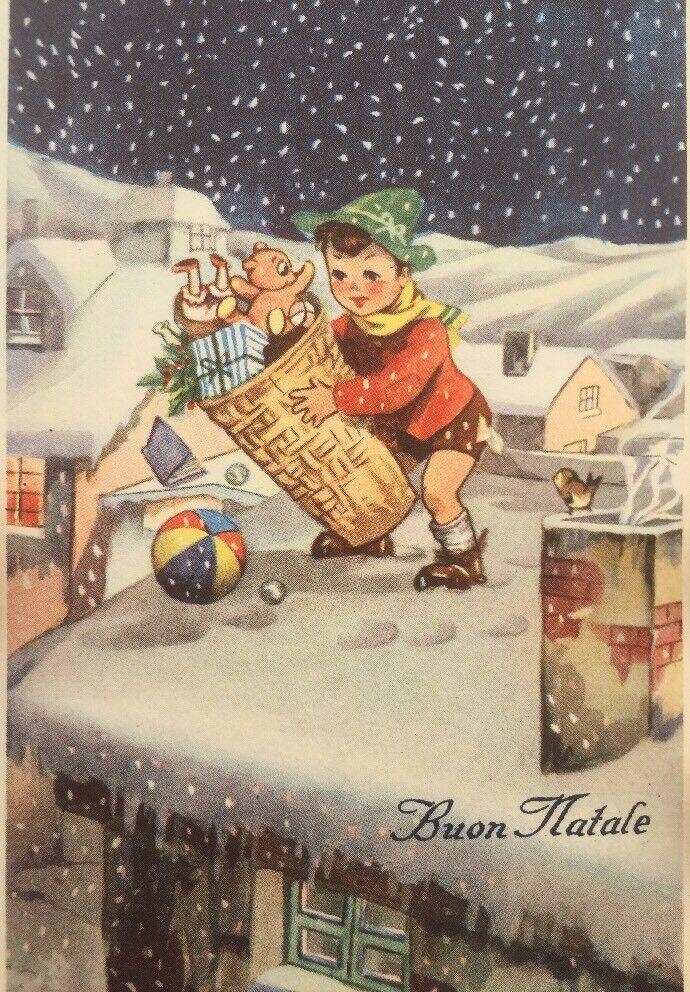 Immagini Natalizie Anni 50.Cartolina Buon Natale Anni 50 Ballerini E Fratini Bc05 Eur