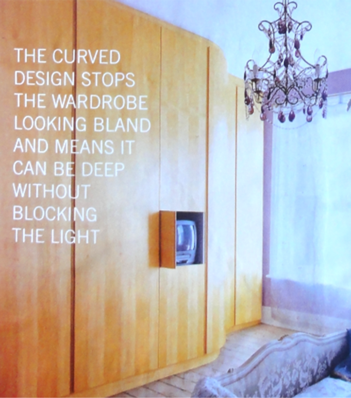 Curved wardrobe design