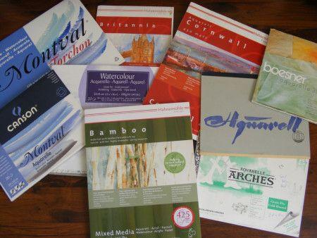 Auf Der Suche Nach Dem Richtigen Aquarellpapier Aquarellpapier