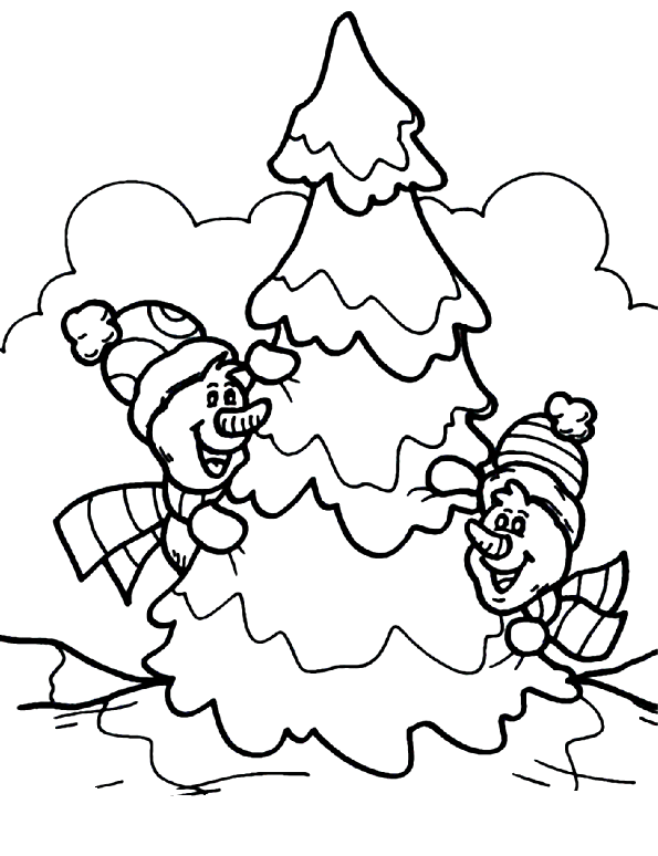 two snowman merry christmas coloring pages coloring
