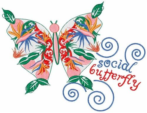 Free Social Butterfly Embroidery Design Annthegran Free
