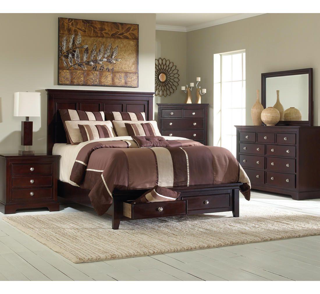 Best Mandalay 5 Pc King Storage Bedroom Group Badcock More 400 x 300