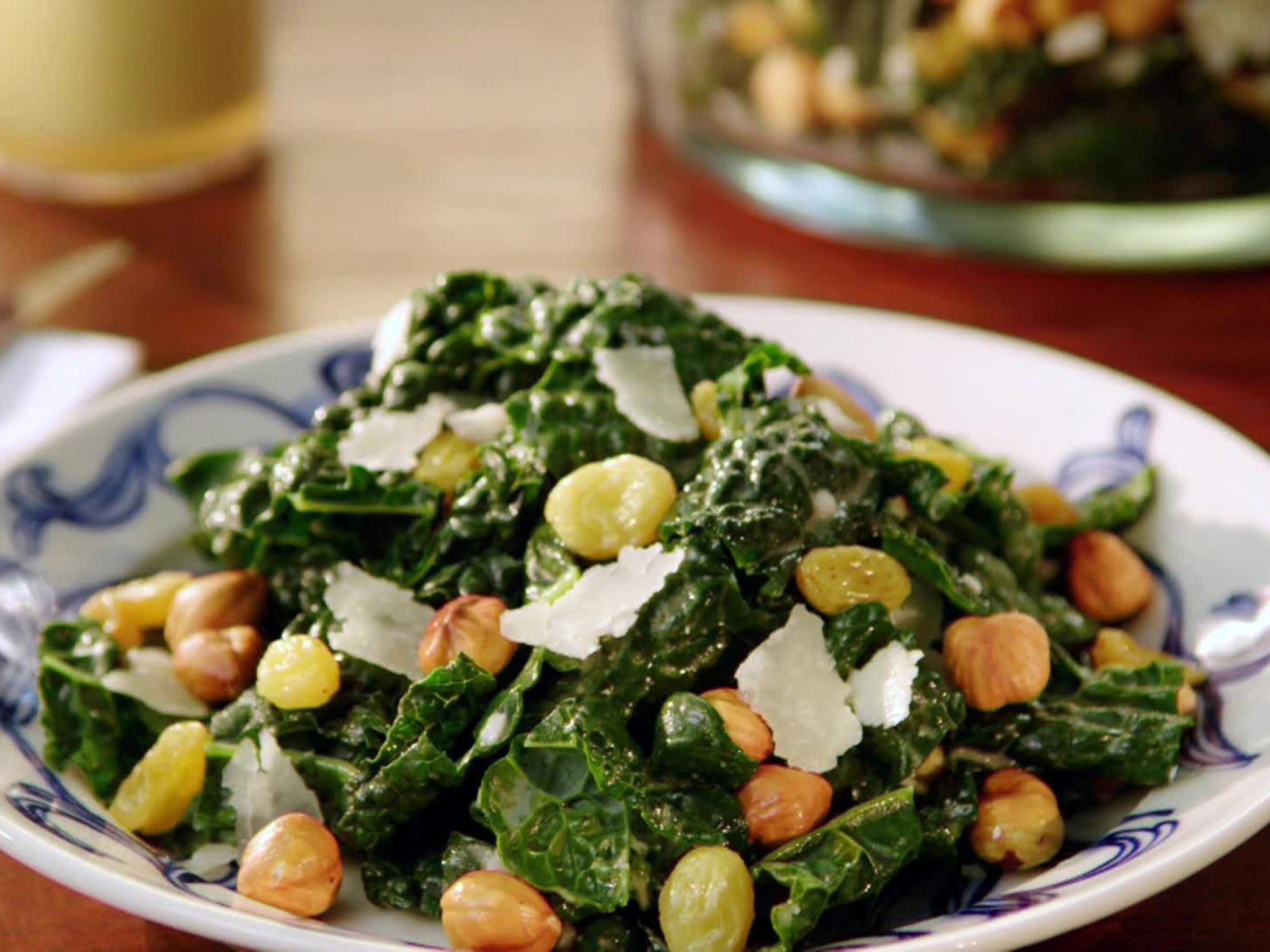 Tuscan Kale Salad With Anchovy Dressing Recipe Food Network Recipes Kale Salad Anchovy Recipes