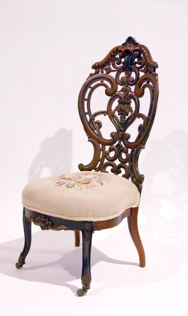 Antique auctions · c1850 Roccoco occasional chair ... - C1850 Roccoco Occasional Chair, Laminated Rosewood, J&JW Meeks, NYC