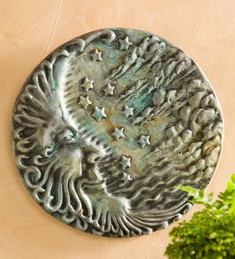 Concrete Sun Or Moon Face Wall Art In Patio Wall Hangings