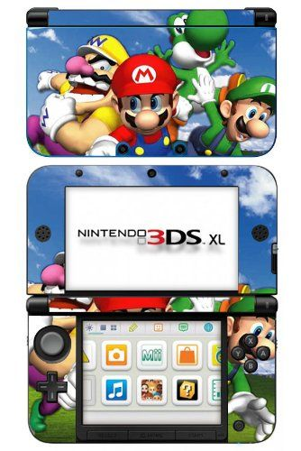 Super Mario 3d World Game Skin For Nintendo 3ds Xl Console 2015 Amazon Top Rated Faceplates Protectors Skins Mario Party Games Nintendo 3ds Nintendo 3ds Xl