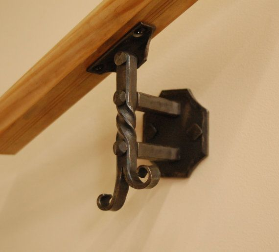 Wall Mounted Handrail Or Banister Bracket Forged By A Blacksmith