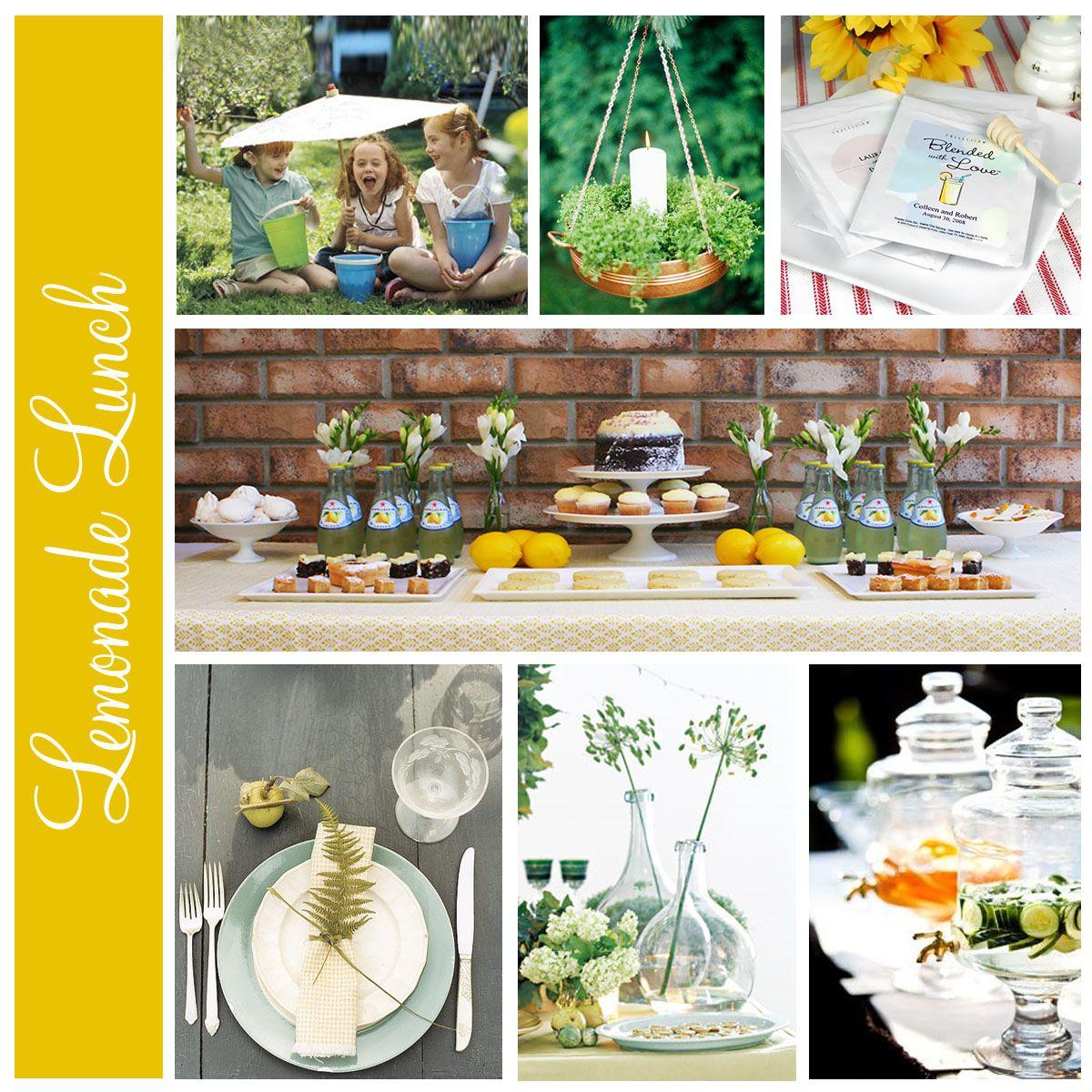 lemonade spring lunch party ideas spring pinterest