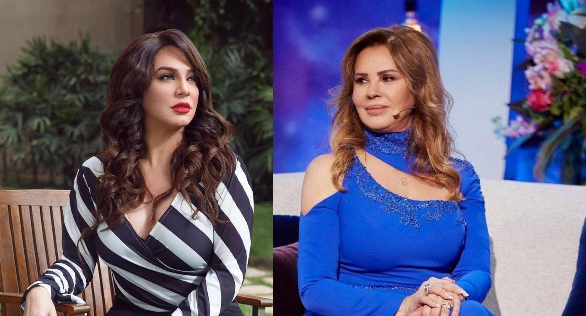 سلاف فواخرجي بشورت قصير إلى جانب سلمى المصري شاهد Open Shoulder Tops Fashion Women S Top