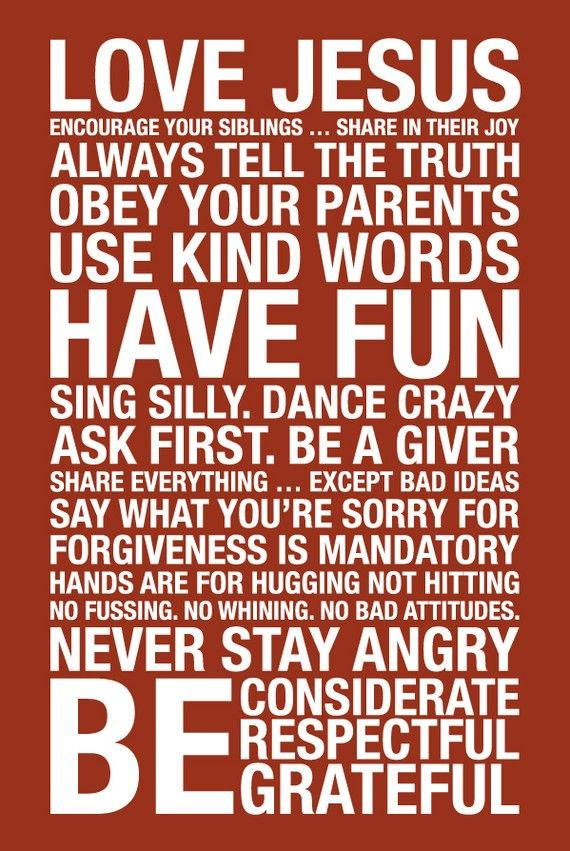 I like these family rules