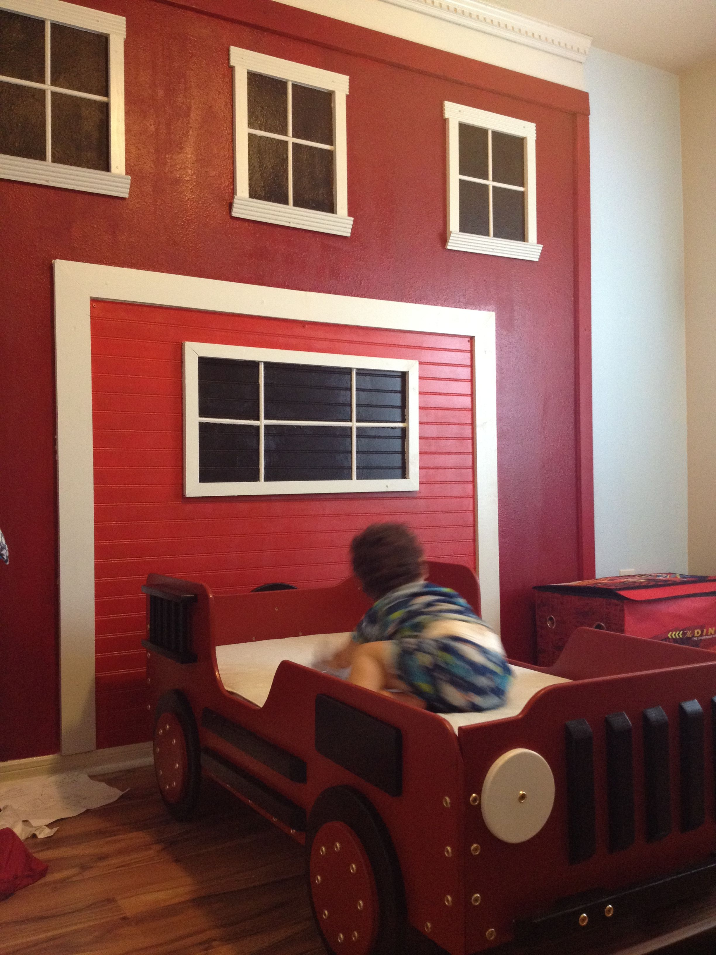Fire Station Toddler Room Kids Superhero Room