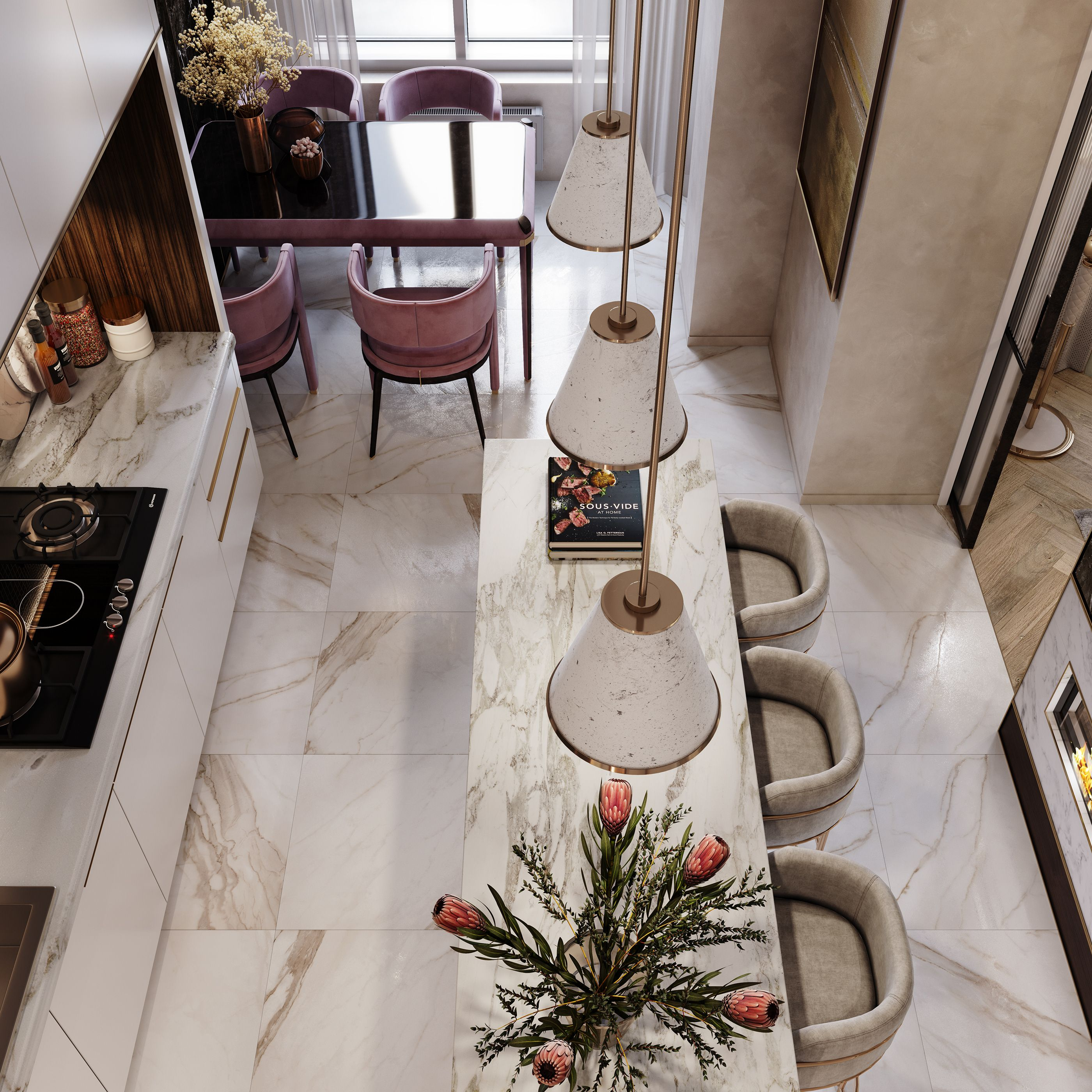 2 Bedroom Apartment Interior Design On Behance With Images