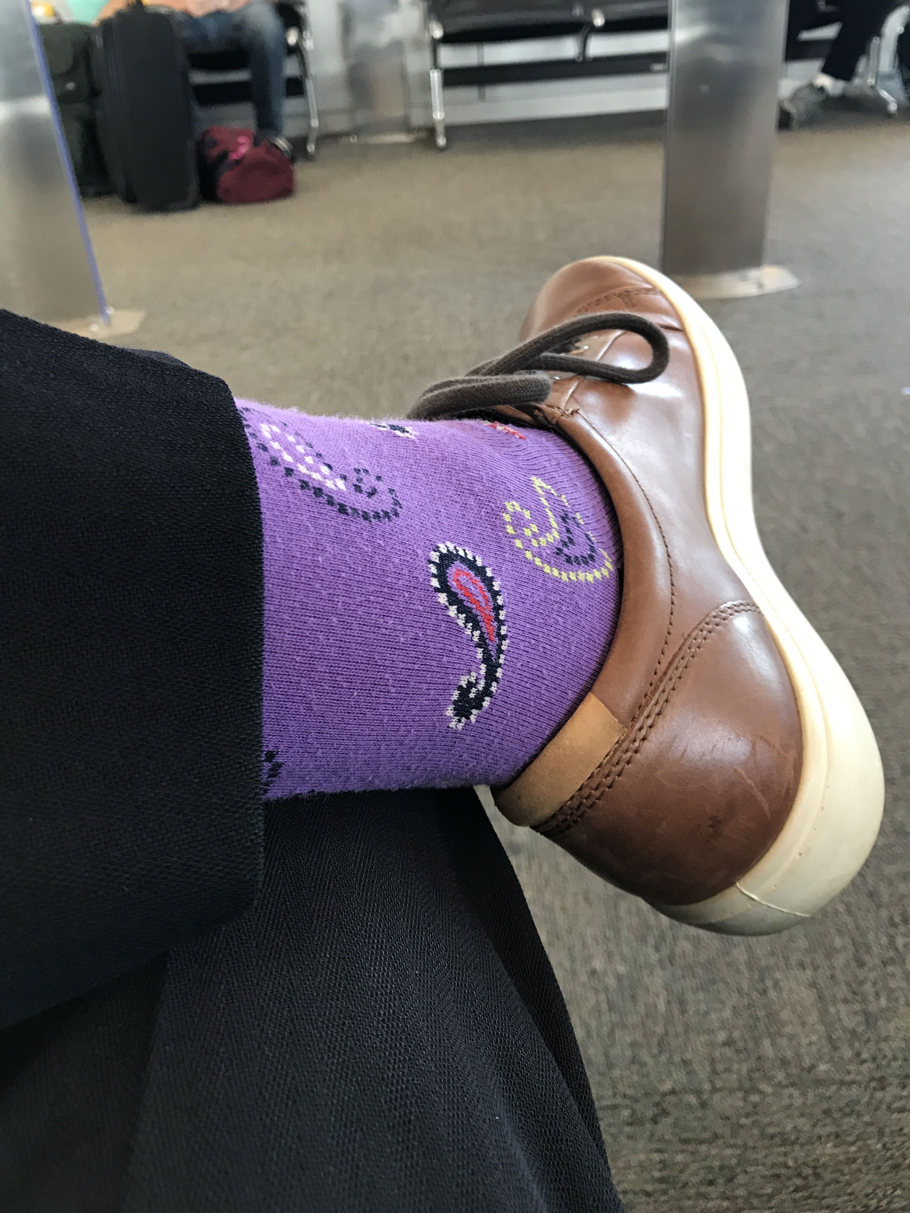 70e771df0 Purple socks today!  socks  funsocks  dressedup Purple Socks