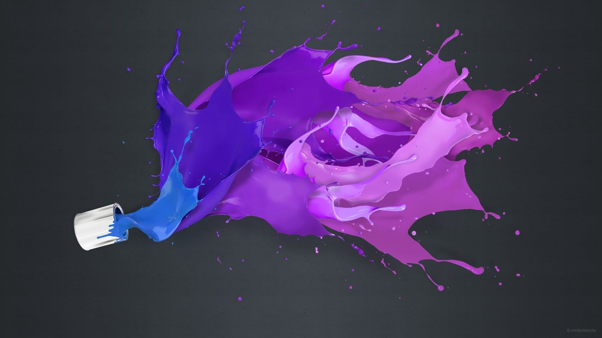 3d color splash wallpapers