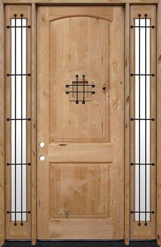 8 u0026 39 0 u0026quot  tall rustic knotty alder prehung wood door unitwith