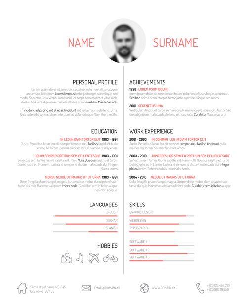 Creative Resume Template Design Vectors 01 Curriculum Vitae