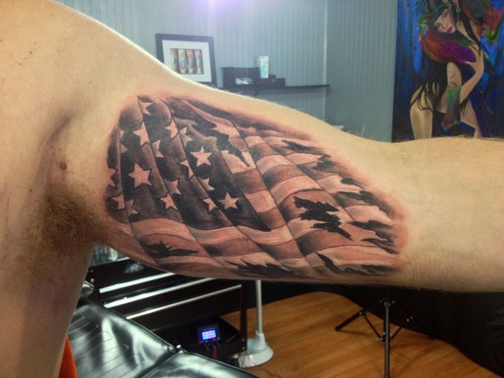 American Flag Tattoo Design On Biceps American Flag Tattoo Flag