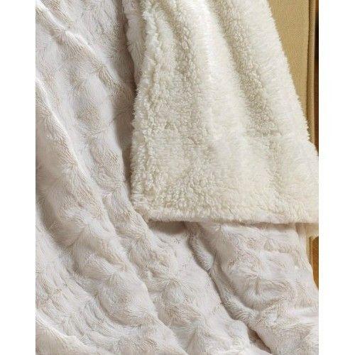 WhiteIvory Super Soft Sherpa Throw Blanket Warm Polar Faux Fur Gorgeous White Fluffy Throw Blanket