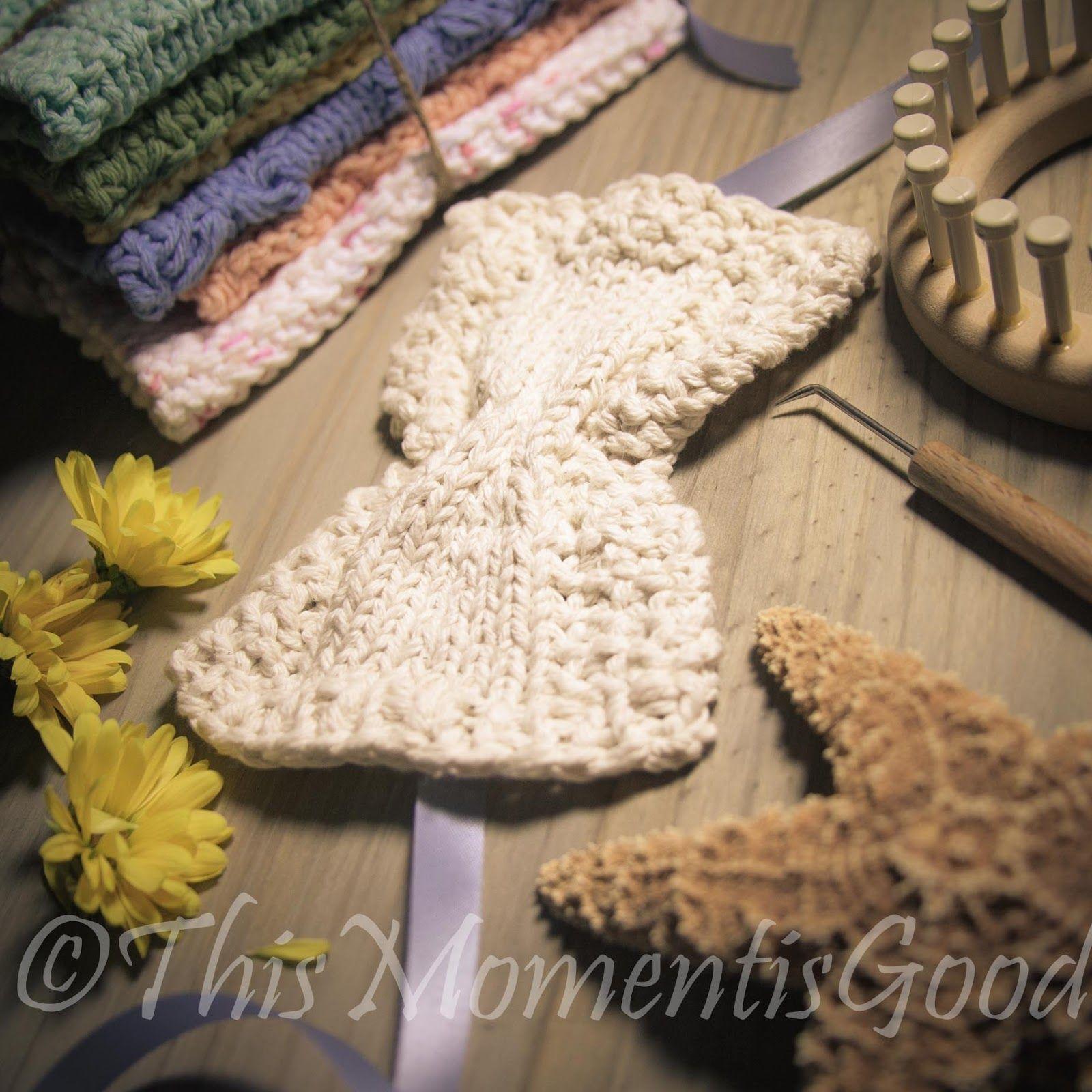 LOOM KNIT EYE MASK PATTERN (FREE)   Loom knitting, Loom knitting ...