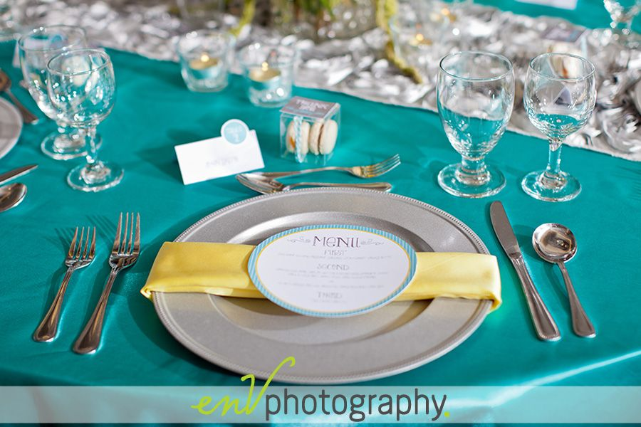 Grey Wedding Tablescape | Gray & Yellow Wedding Inspirations ...