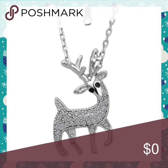 💥Clearance Sale💥NWT Rhinestone Reindeer Necklace NWT Silver Rhinestone Reindeer Necklace Jewelry Necklaces