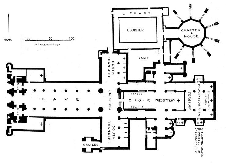 Monastery Floorplans Bond English Church Architecture