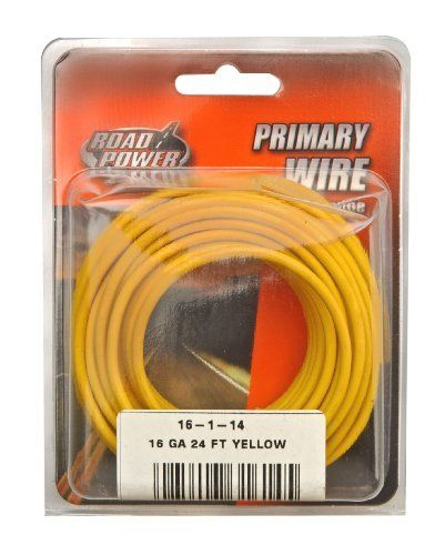 Coleman Cable 16 1 14 16 Gauge 24 Foot Automotive Copper Wire Yellow By Coleman Cable 6 03 Coleman Electricity Electrical Wiring Electrical Wire Connectors