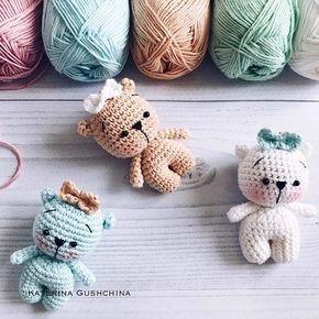 Tiny teddy bear crochet pattern  | Amiguroom Toys #crochetteddybears