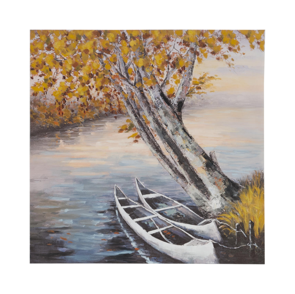 Two Canoes Canvas Art