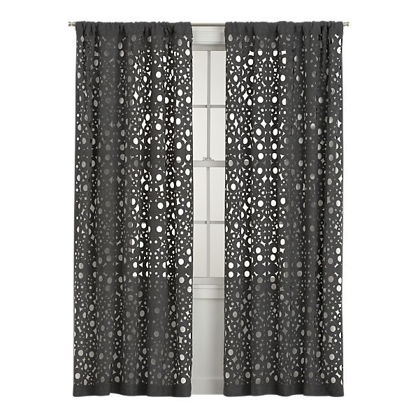 Laser-cut wool curtain panels | Accessories for Home | Grey ...