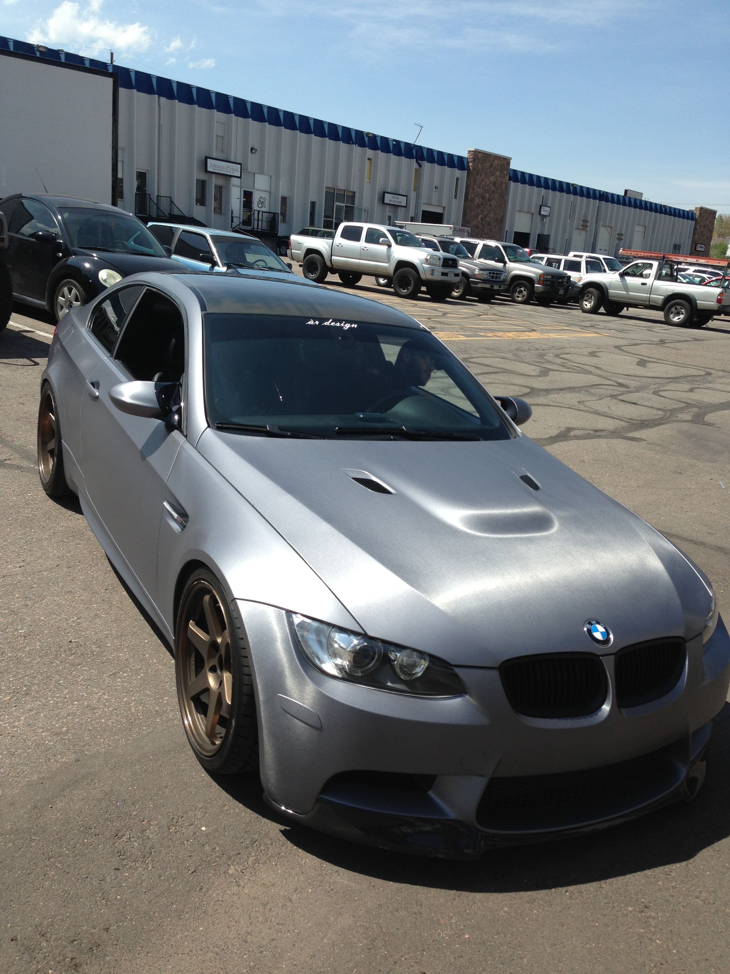 Premier graphics paint wraps vehicle wraps in denver colorado bmw in 3m brushed