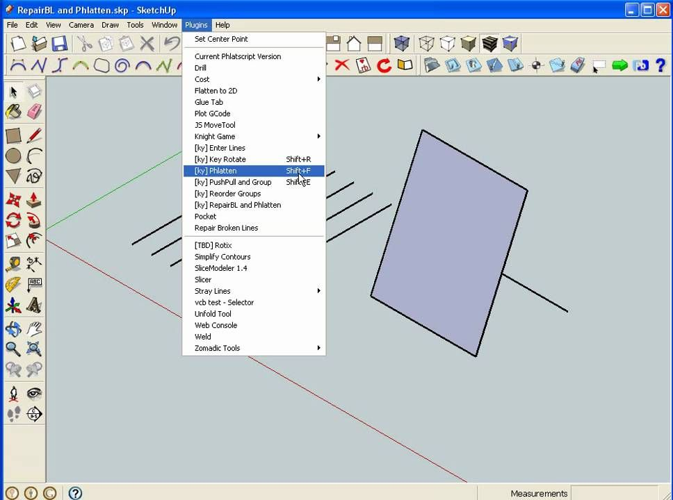 Phlatten Plugin For Sketchup Camera Drawing Woodworking
