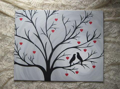 Canvas Art Ideas Hand Trees