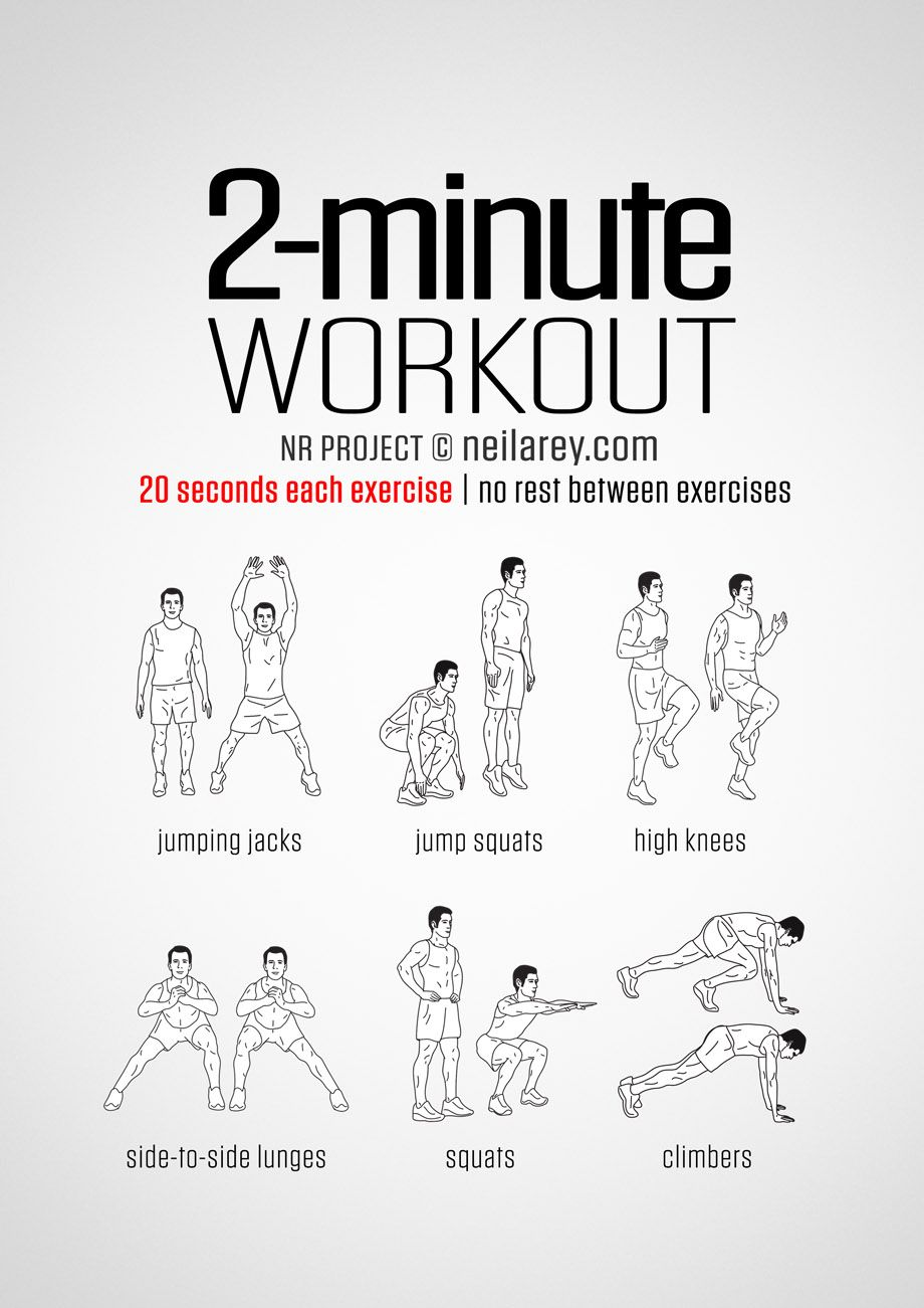 2 Minute Workout Darebee Exercise Workout