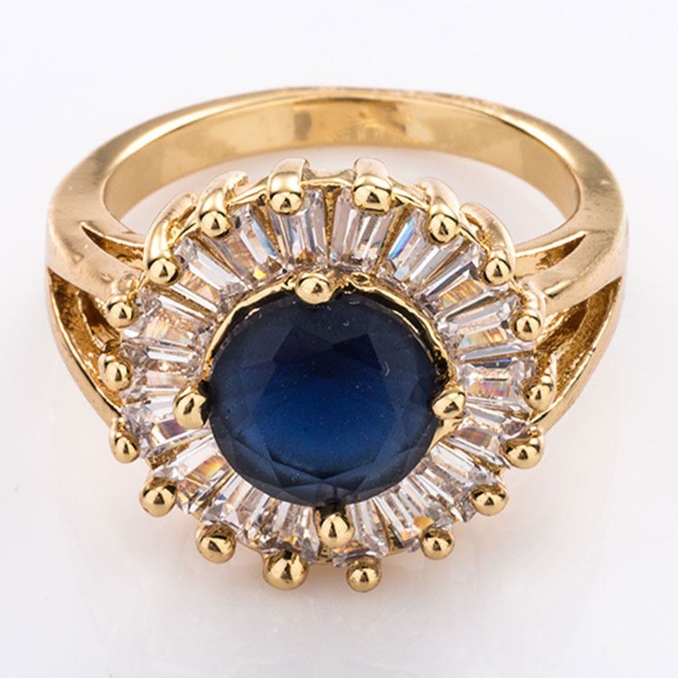 Good Quality zirconia turkish gold rings without stones women