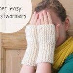 Kjempelette håndleddsvarmere / Super easy wrist warmers