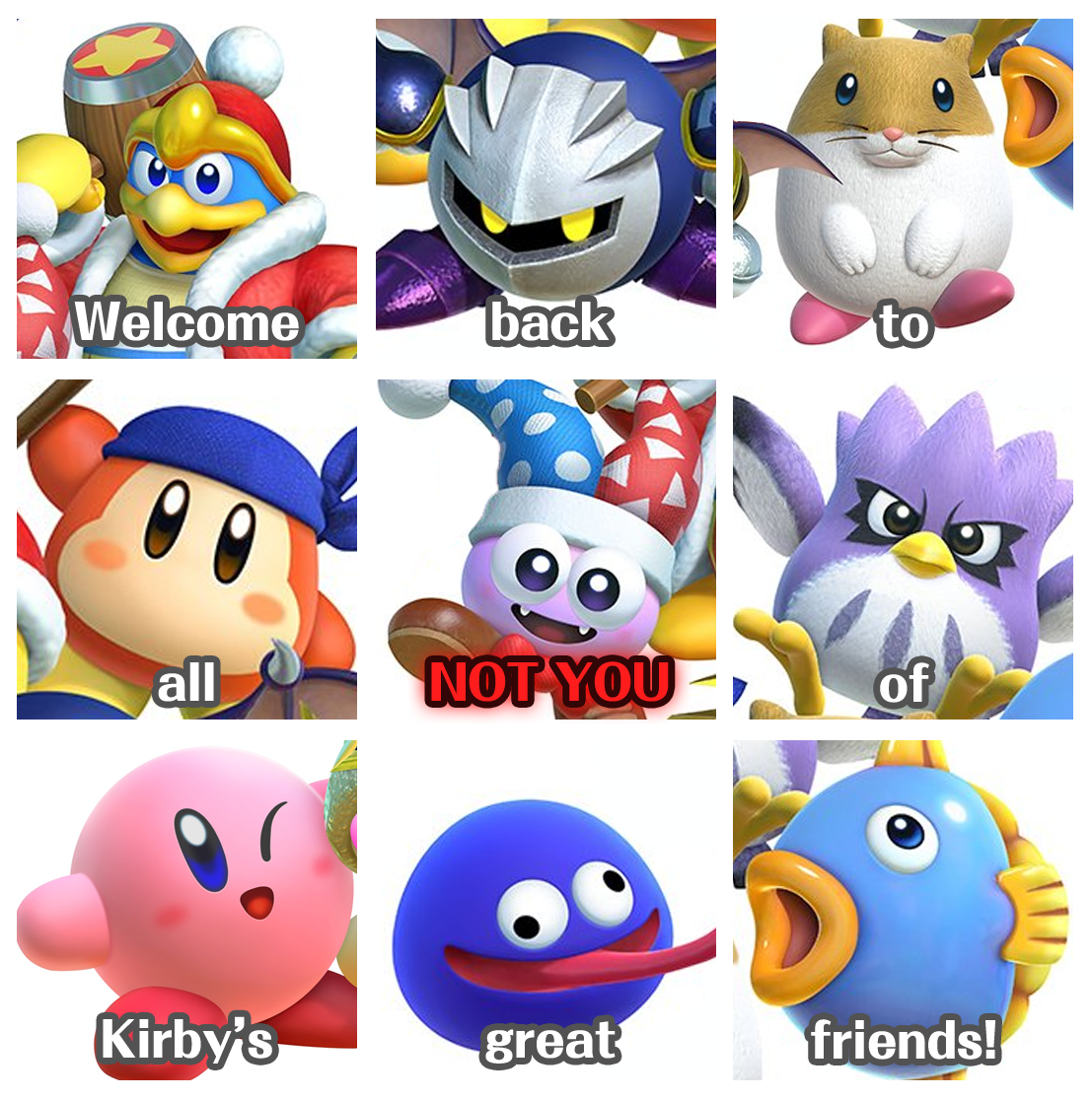 Marx, if you gon' stay, then you're NOT gon' stab Kirby in ...