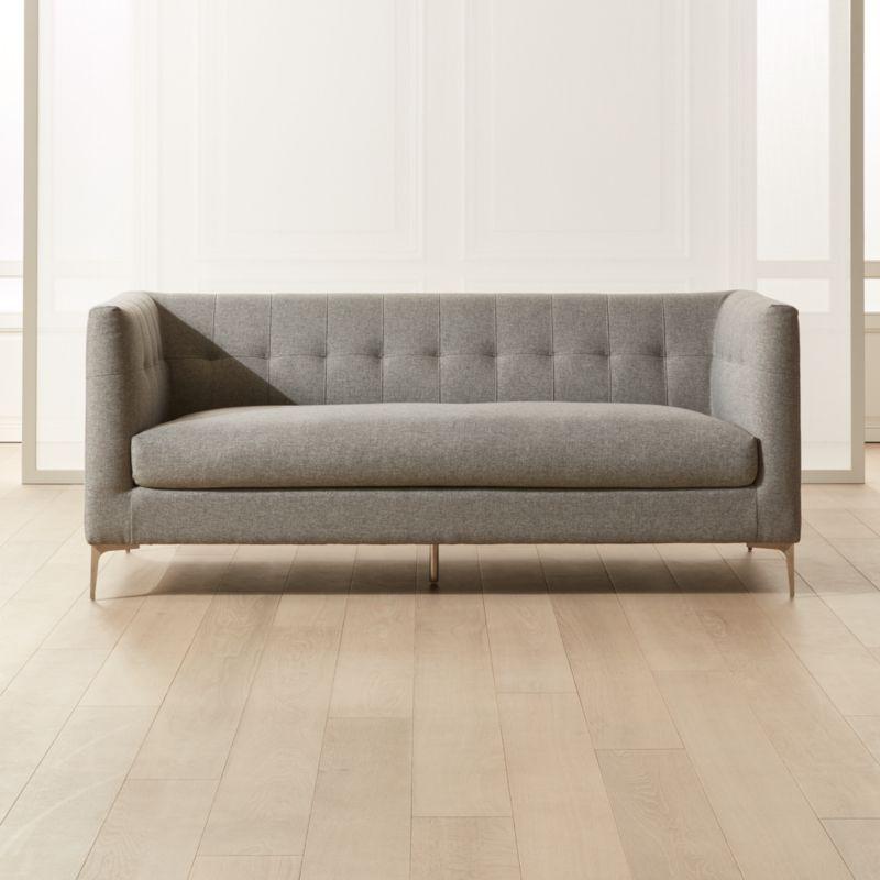 Holden Grey Tufted Sofa In 2020 Grey Tufted Sofa Tufted Sofa