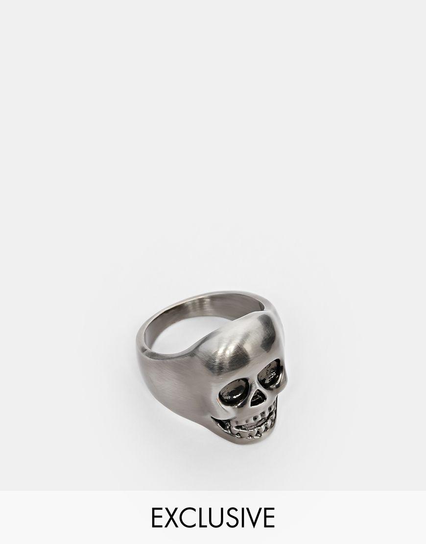 Bague tete de mort design
