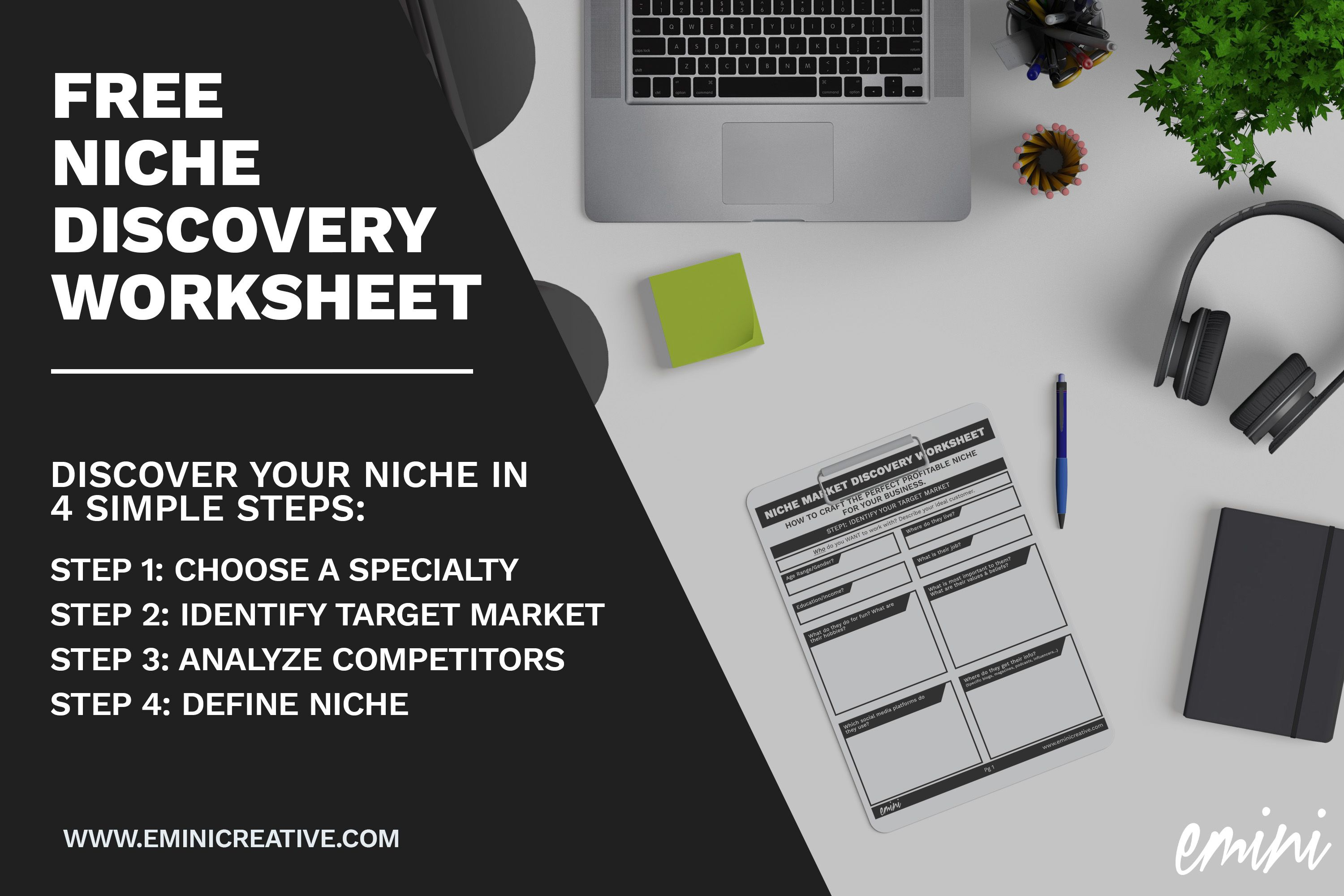 How To Define Your Business Niche Free Worksheet