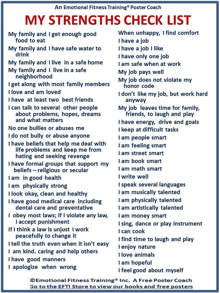 resume strength words