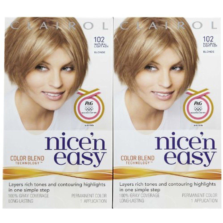 Clairol Nice N Easy Hair Color Natural Light Ash Blonde 102 2