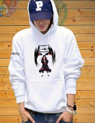 qooiu Naruto Hoodies and Sweatpants Uchiha Sasuke Itachi Suit Mens Womens Anime Hooded Sweatshirts Tracksuits