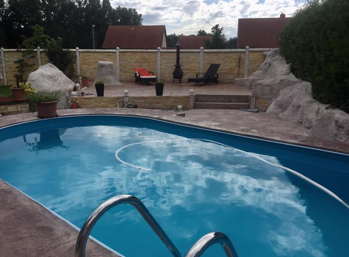 Pool spa pools spa mit mediterranem style - Naturstein pool ...