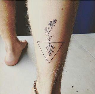 #tattoo #triangle #flowers