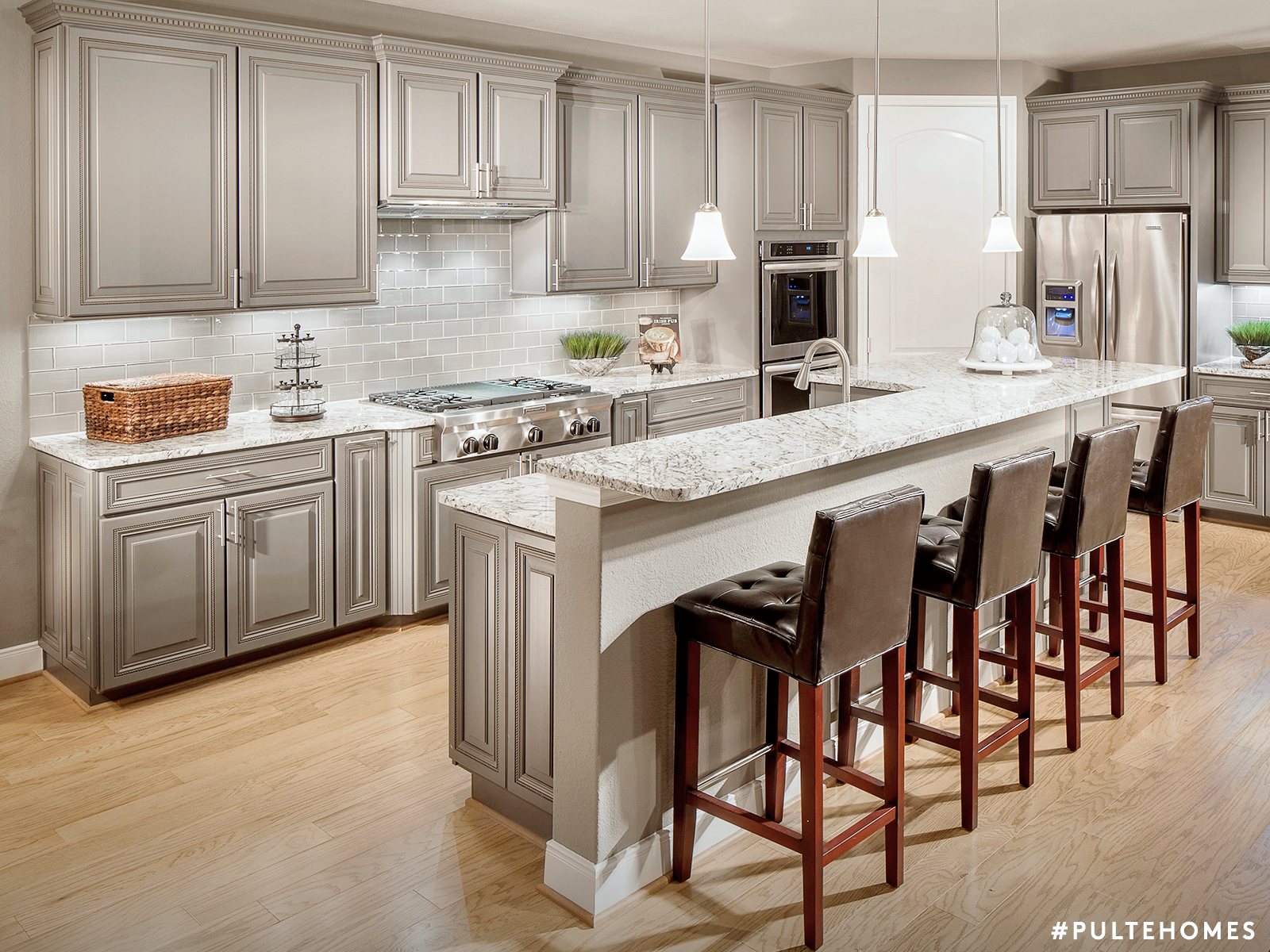 Expand your kitchenus palette painted gray cabinets paired with