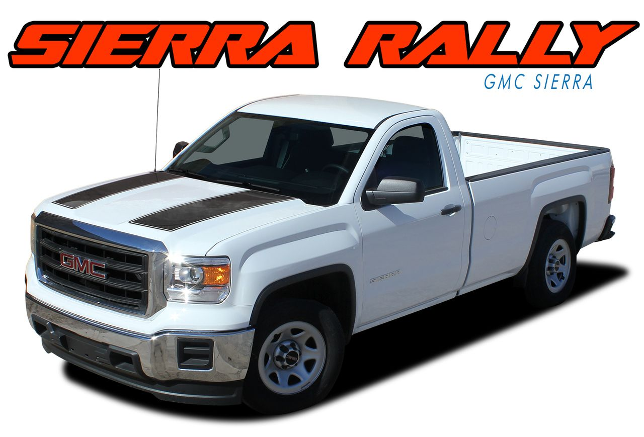 Sierra Rally 2014 2018 Gmc Edition Style Vinyl Dual Battery Kit 2015 2016 2017 Hood Racing Stripe Graphics Decals And Stripeing Model Specific Muscle Car Stripes
